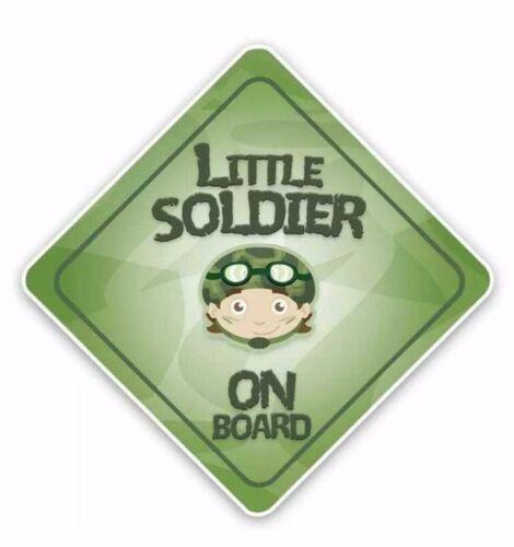 Petit soldat Baby on Board Enfants Autocollant Decal Fille Garçon Enfant Drôle Nouveauté Voiture