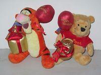 Disney Special Edition Beanies 80 Years Happy Birthday Pooh & Tigger Soft Toys
