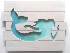 Beautiful Turquoise Mermaid Wall Decor Beach House Decor Nautical Art Ocean Sea