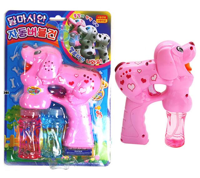 Dalmatian Bubble Gun Pink Toy Light Melody Machine bubble blower Children Kids