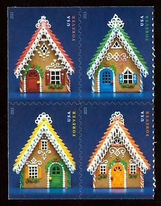 4820a-Gingerbread-Houses-Se-Tenant-Block-Mint-ANY-4-FREE-SHIPPING