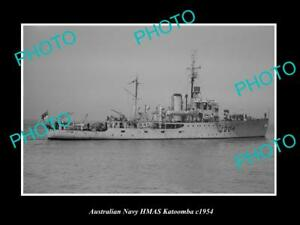 OLD-LARGE-HISTORIC-AUSTRALIAN-NAVY-PHOTO-OF-THE-HMAS-KATOOMBA-SHIP-c1954