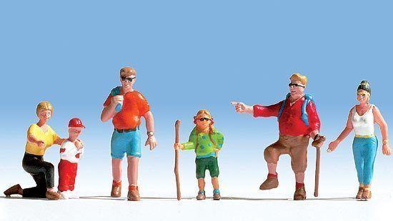 Figurines Noch H0 (15870): 6 Hiker