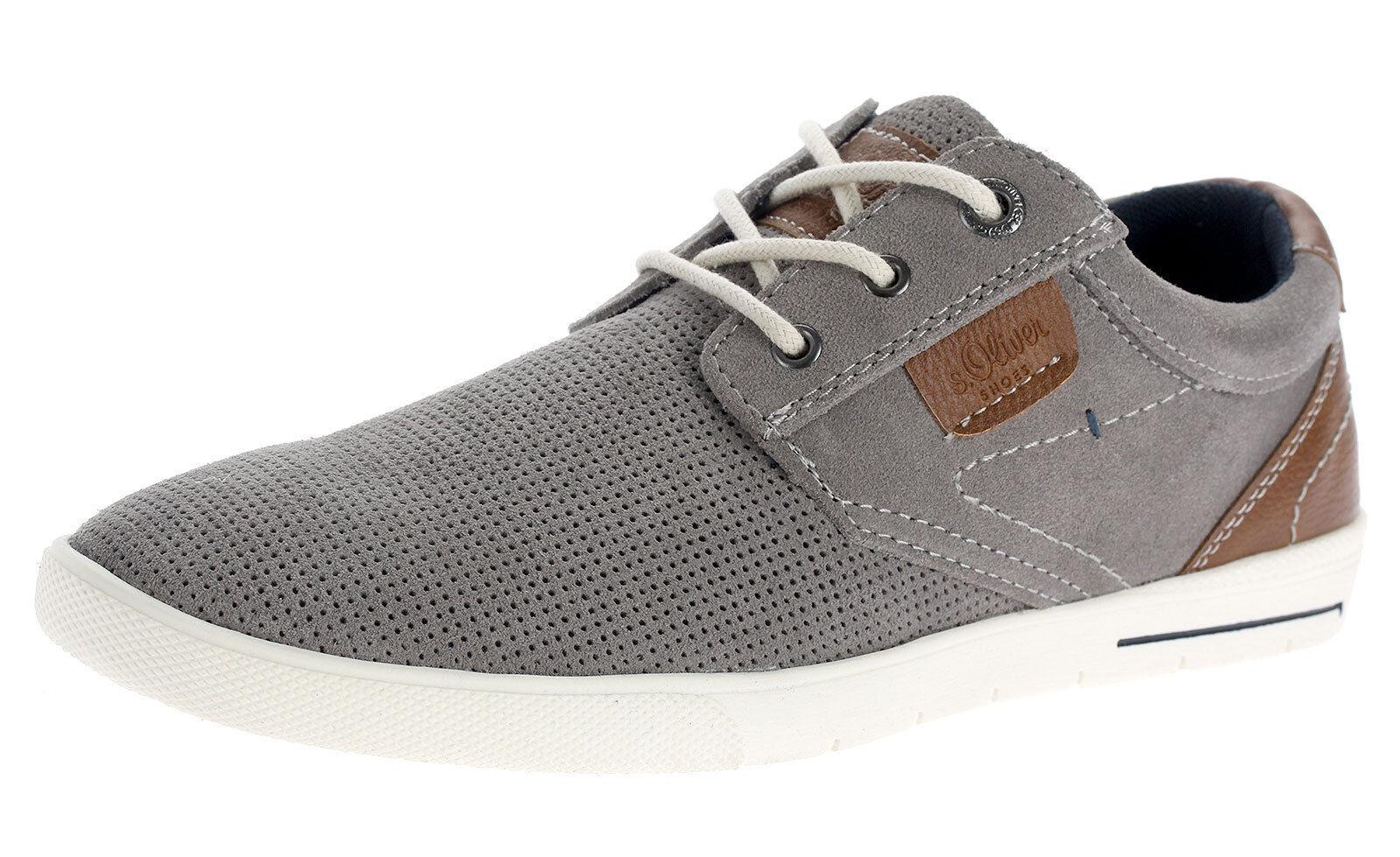 S. Oliver Uomo in Pelle scarpe scarpe scarpe da ginnastica Scarpe Basse Lacci per il tempo libero Scarpe 13605 GRIGIO f0e167