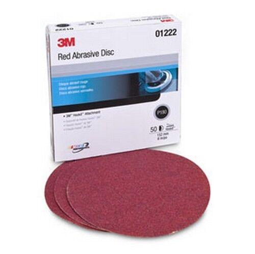 3M 1222 Red Abrasive Hookit™ Disc P180 50 discs per box 6 in