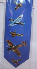 Spitfire planes on blue Silk Tie