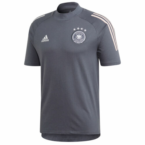 Germany Football Training Short Sleeve Shirt Top T-Shirt Mens Dk Grey