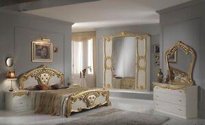 Das Bild Wird Geladen Neues Luxus Schlafzimmer  Cristina Beige Gold Kein Risiko