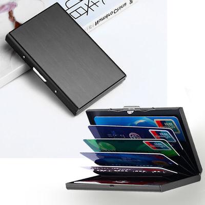 BT/_ Metal Waterproof Case Box Business ID Credit Card Wallet Holder Pocket