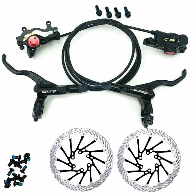 ZOOM Hydraulic Brakes Disc Front&Rear + Rotors 160 180mm Brakes Calipers Bike