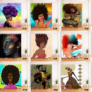 Image Is Loading Afro Makeup African Women Shower Curtain Waterproof Bathroom