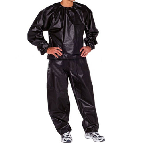 Men Women Sweat Sauna Suit Fitness Loss Weight Exercise Training Tracksuit US