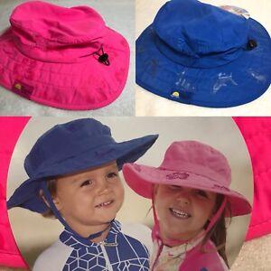 Safari Sun Hat Blue Sharks 3-10 Yrs Old NWT Sun Protection Zone Kids UPF 50