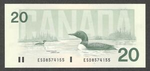 1991-20-00-BC-58a-GEM-UNC-EPQ-Bird-Series-034-Common-Loon-034-BEAUTY-Canada-Twenty