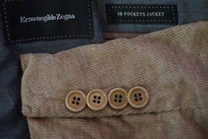 Ermenegildo-Zegna-10-Pockets-Jacket-Travel-Brown-Corduroy-Sport-Coat-Sz-46R