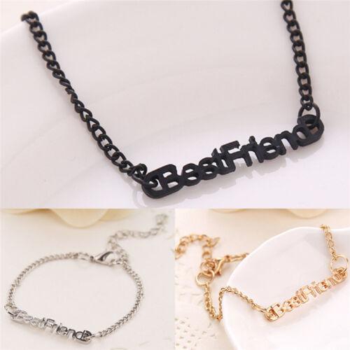 Letter Friendship Chain Bracelet Best Friend Gift Bracelet Anklet Chains/'JeFBDC