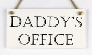 """Handmade PLACCA """"Daddy dell' ufficio"""" IDEA REGALO per una speciale DAD, PA, padri Giorno  </span>"""