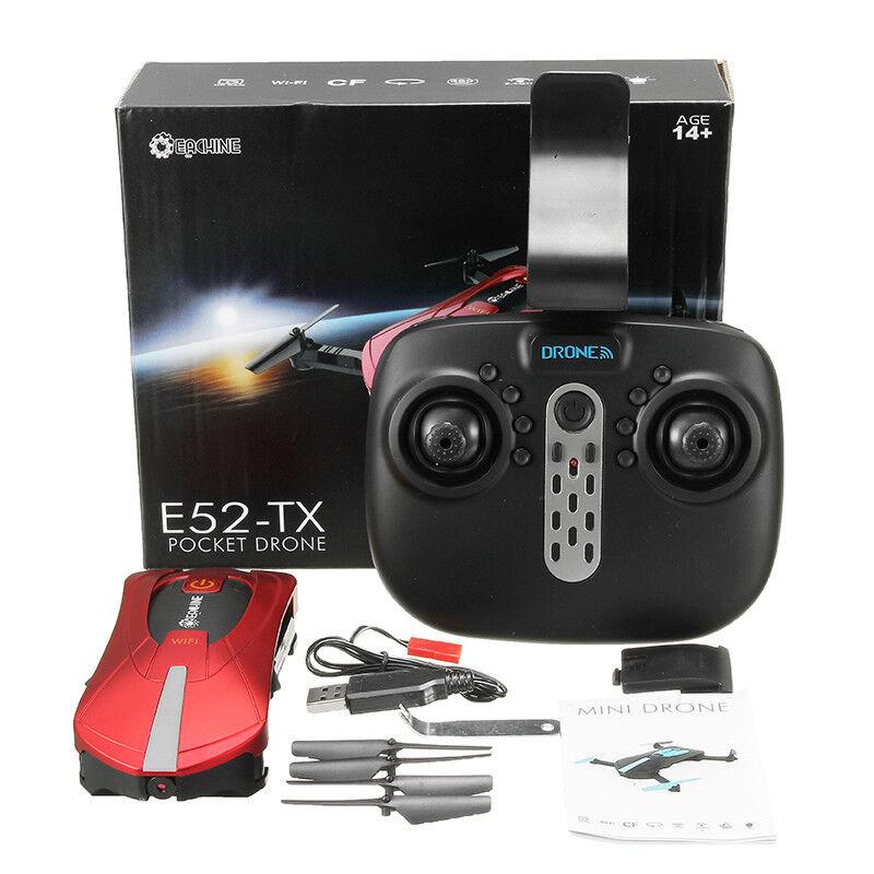Genuine E52 Drone, con 2 batterie di ricambio al passaggio del mouse & modalità HOLD, Quadcopter RC  5d
