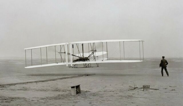 WRIGHT BROTHERS EARLY FLIGHT AIRPLANE Glossy Photo print A4/A5