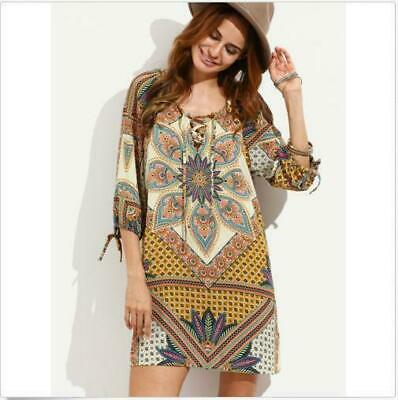 a juego en color material seleccionado predominante New Vestidos Ropa De Moda Para Mujer Casuales Cortos Sexys Playa Verano  dress#DI | eBay