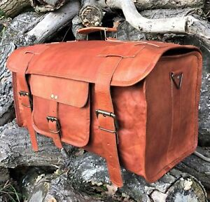 23-034-Vintage-Leather-Duffle-HoldAll-Bag-Overnight-Weekend-Travel-Luggage-Handbag