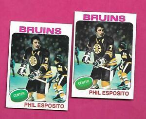 2-X-1975-76-TOPPS-200-BRUINS-PHIL-ESPOSITO-NRMT-MT-CARD-INV-C3556