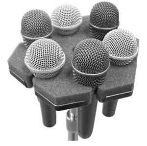 Ace Backstage Co. SOFTPOD soft microphone holder holds 6 mics on standard stand
