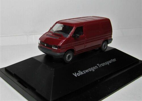 Herpa 1:87 VW T4 Transporter OVP dunkelrot Werbemodell Das Original