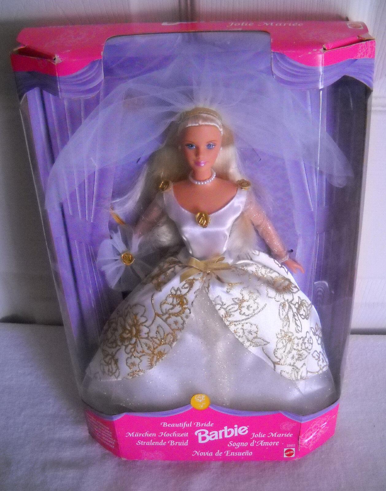 Nunca quitado de la Caja Mattel Muñeca Barbie Bella Novia emisión extranjera