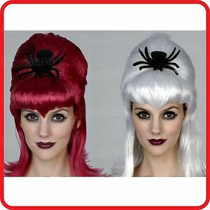 WIG-60CM-BLACK /& RED //BLUE //WHITE-HALLOWEEN-VAMPIRE-WITCH-COSTUME-COSPLAY-PARTY