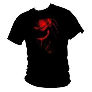 Red-Predator-face-movie-amp-classic-Schwarzenegger-film-100-cotton-T-shirt