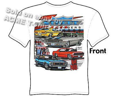 68 69 Dodge Charger R//T T Shirt 1968 426 Hemi Tee 1969 440 Mopar Clothing Muscle