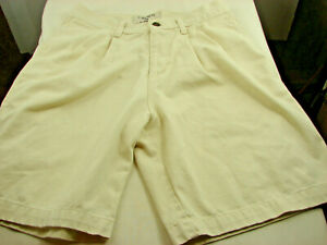 Z-Cavaricci-Girls-Stretch-Beige-Chino-Shorts-Size-16-28in-waist-7-5-in-inseam