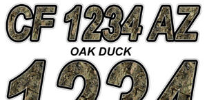 Oak-Duck-Boat-Registration-Numbers-or-PWC-Decals-Stickers-Graphics-50-ST