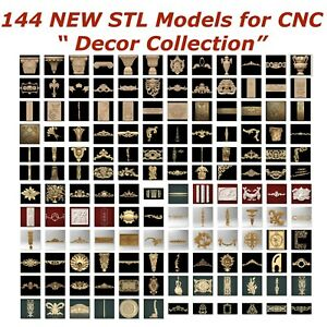144-NEW-Decor-3d-STL-Models-for-CNC-Router-3d-Printer-Artcam-Aspire-Cut3d