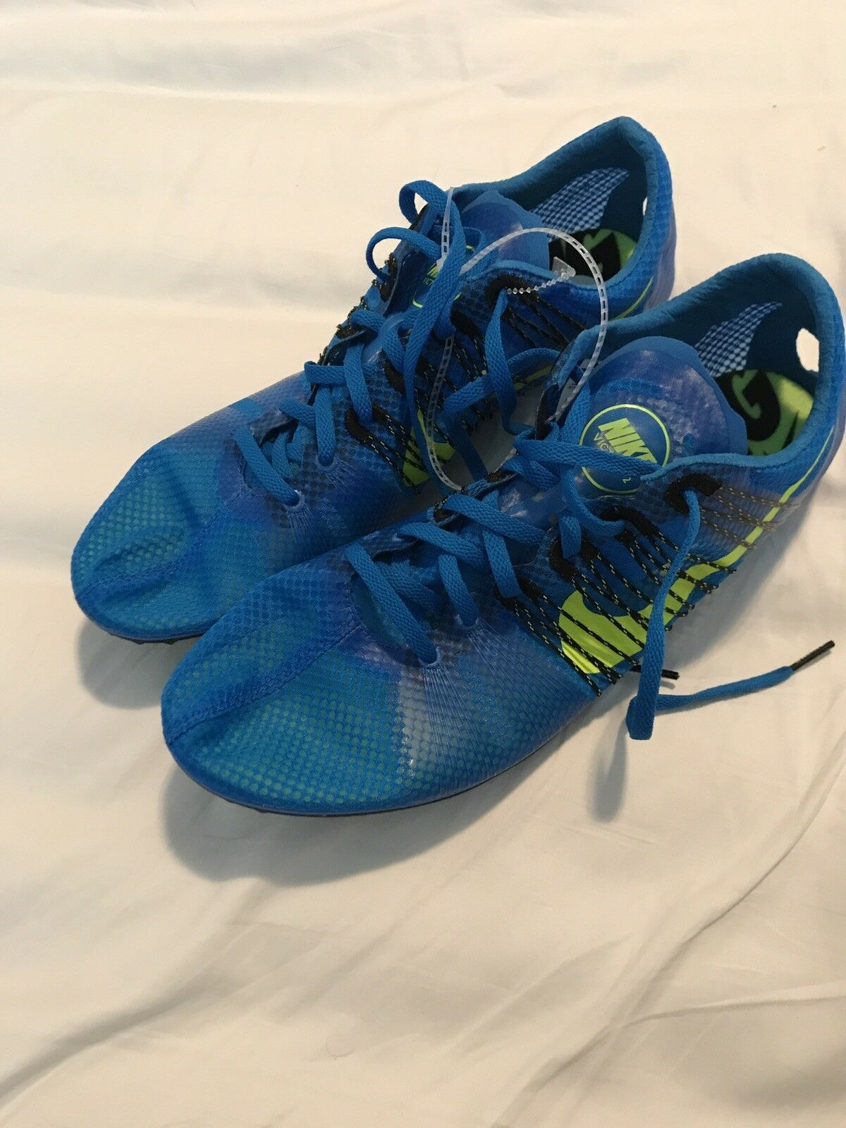 NIKE ZOOM VICTORY 2 DISTANCE RACING TRACK SPIKES LYON BLUE BLACK 555365-470 13M  Great discount