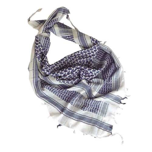 Blue Shemagh Military Army Tactical Arab Neck Scarf Scrim Headscarf White