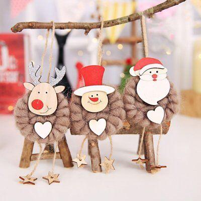 3PCS Lovely Christmas Party Hanging Decor Santa Claus Snowman Xmas Ornaments HOT