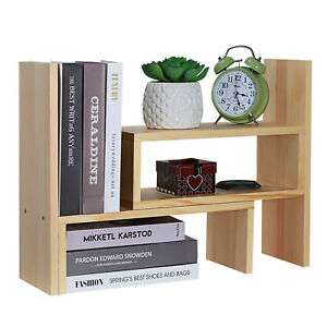 Details about Expandable Desk Organizer Accessory Adjustable DIY Desktop  Shelf Office Supplies