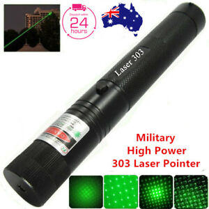 Military Powerful 303 Green Laser Pointer Pen + 18650 Battery 602822684934