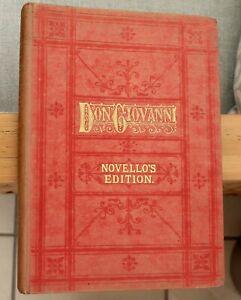 Don Giovanni Novello édition. Par W.a. Mozart. 300 Pages.-afficher Le Titre D'origine Bon Pour L'éNergie Et La Rate