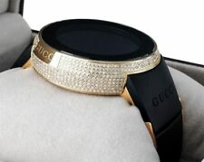 5c73a8d8052 Diamond Gucci I-Gucci Watch Digital Grammy Edition YA114215 Black Gold 2.5  CT.