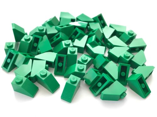 *NEW* 50 Pieces Lego GREEN Slope 45 2x1 ROOF 3040
