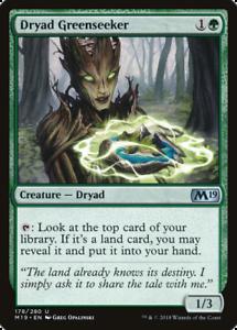 PLAYSET DRYAD GREENSEEKER ~ 4x ~ Magic Cards M19 ~ MTG ~ Core 2019