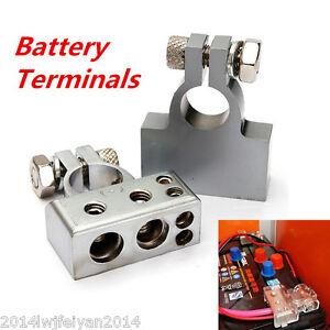 12v Car Battery Terminal Connector Positive Amp Negative 2 4