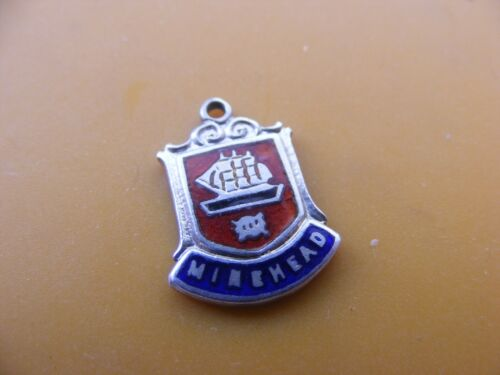 VINTAGE STERLING SILVER CHARM CHARMS UK /& EUROPE TRAVEL SHIELD CREST 10