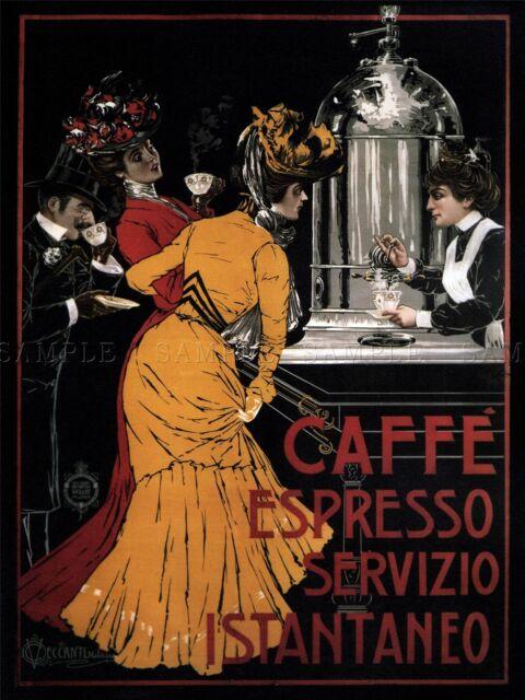 Bricco Coffee 1930  Pontedera Italy Vintage Poster Print Retro Coffee Advert