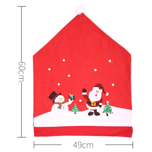 Christmas • Snowman Chair Covers Decoration Back Covers Table Decors ▪