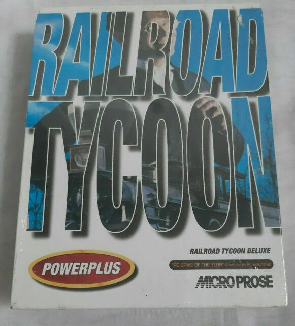 PC IBM Spiel Railroad Tycoon Vintage 1993 Microprose Powerplus NEU versiegelt