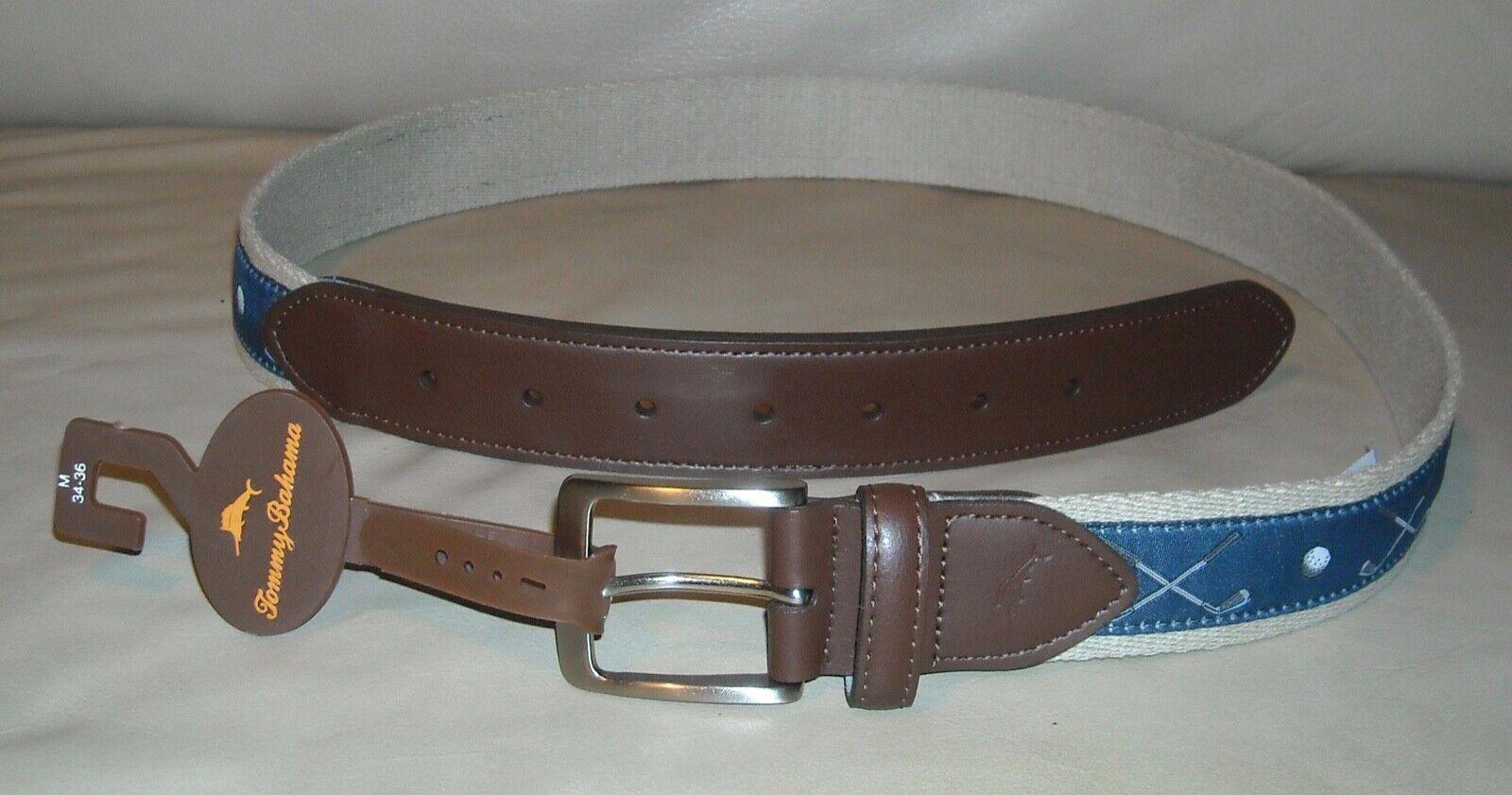 Tommy Bahama Mens Leather Reversible Belt
